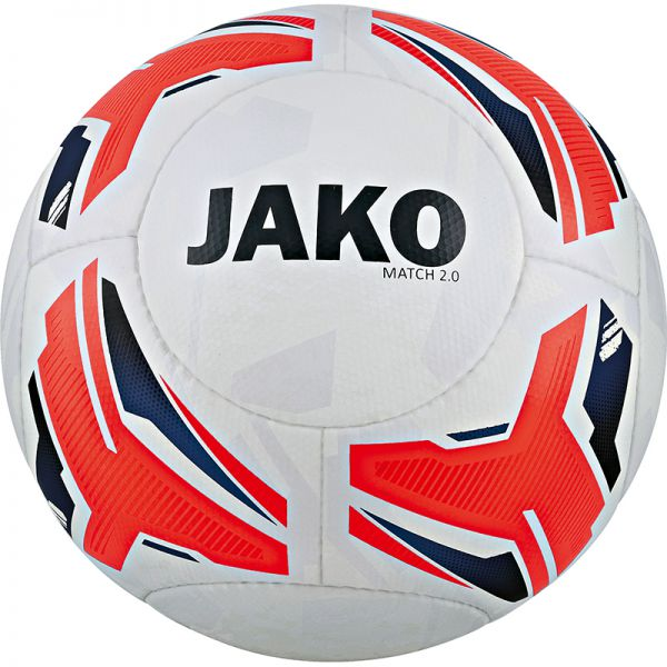 JAKO Trainingsball Match 2.0 weiß/flame/navy Gr.5