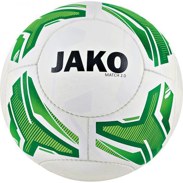JAKO Lightball Match 2.0 weiß/neongrün/grün-290g Gr.4