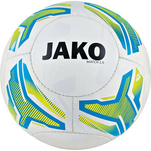 JAKO Lightball Match 2.0 weiß/neongelb/JAKO blau-350g Gr.4