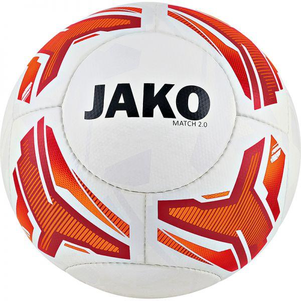 JAKO Lightball Match 2.0 weiß/neonorange/rot-290g Gr.5