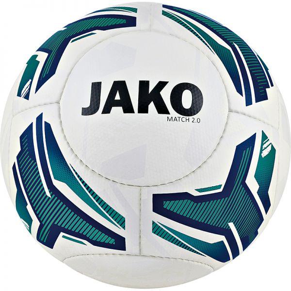 JAKO Lightball Match 2.0 weiß/türkis/marine-350g Gr.5
