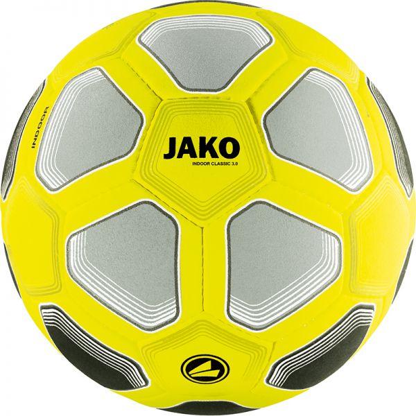 JAKO Ball Indoor Classico 3.0 gelb/schwarz/grau Gr.4