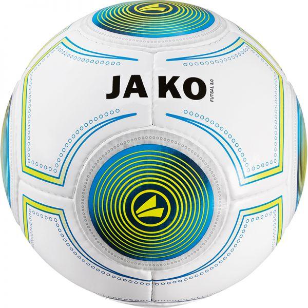 JAKO Ball Futsal 3.0 weiß/JAKO blau/lime-420g Gr.4