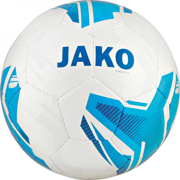 JAKO Lightball Striker 2.0 MS weiß/hellblau-350g Gr.4