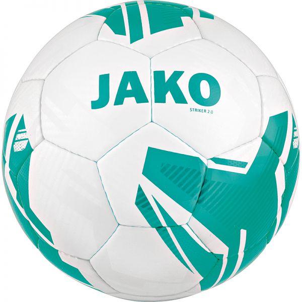 JAKO Lightball Striker 2.0 MS weiß/türkis-350g Gr.5