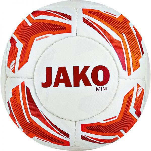JAKO Miniball Striker weiß/neonorange/rot Gr.1